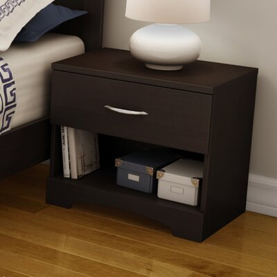 Infinity 1 Drawer Nightstand Finish: Chocolate