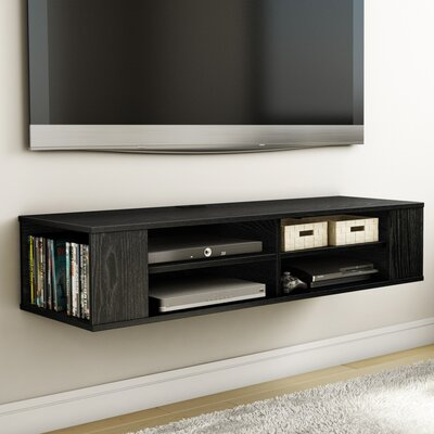 City Life 48 Floating TV Stand Color: Black Oak