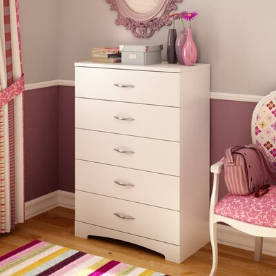 Back Bay 5 Drawer Chest Color: Pure White