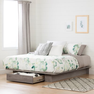 Holland Queen Storage Platform Bed Color: Sand Oak