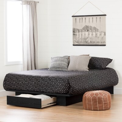 Holland Queen Storage Platform Bed Color: Black Oak