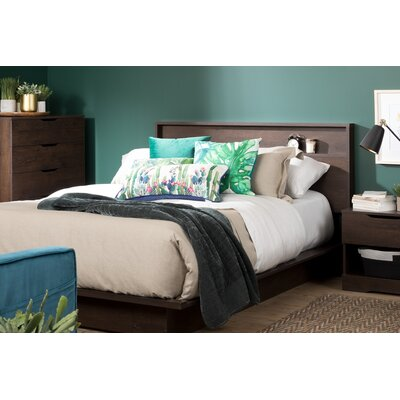 Holland Queen Storage Platform Bed Color: Brown Oak