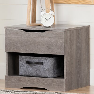 Holland 1 Drawer Nightstand Color: Sand Oak
