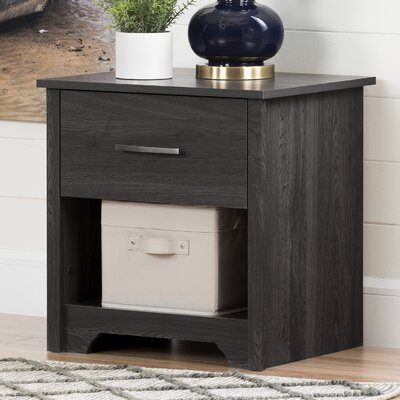Fusion 1 Drawer Nightstand Color: Gray Oak