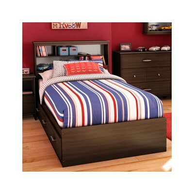 Cheap Highway Twin Mates Bed in Mocha (TH2349)