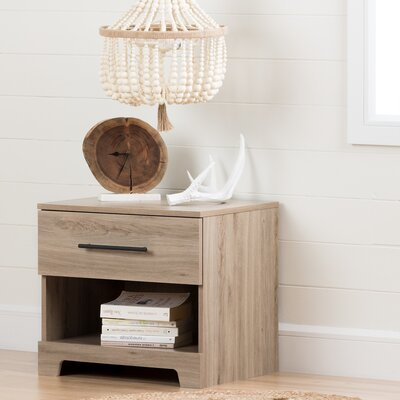 Primo 1 Drawer Nightstand Color: Rustic Oak