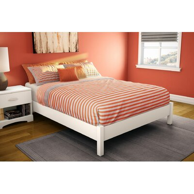 Step One Platform Bed Finish: Pure White, Size: Queen