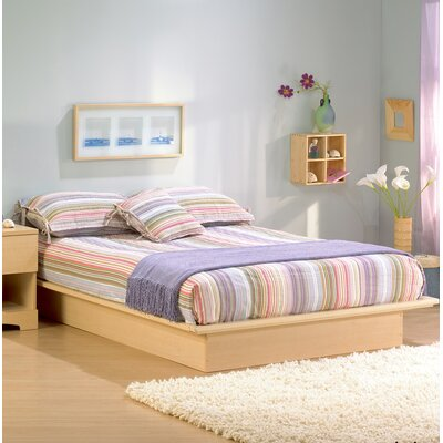Back Bay Platform Bed Color: Natural Maple, Size: Full