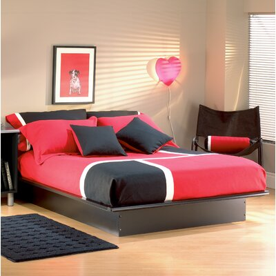 Back Bay Platform Bed Color: Pure Black, Size: Queen