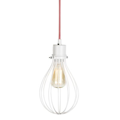 1-Light Mini Pendant Finish: White / Pink