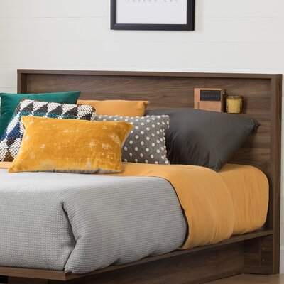 Holland Queen Panel Headboard Color: Natural Walnut
