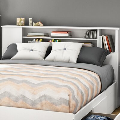 Fusion Bookcase Headboard Color: Pure White