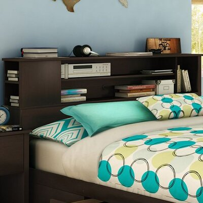 Vito Bookcase Headboard Color: Chocolate