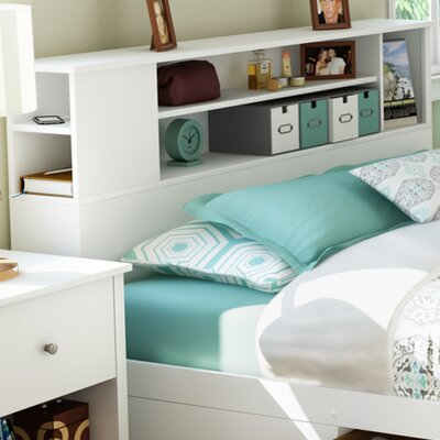 Vito Bookcase Headboard Color: Pure White