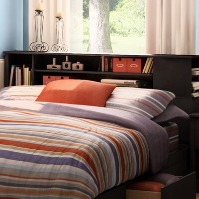 Vito Bookcase Headboard Color: Pure Black