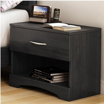 Step One 1 Drawer Nightstand Color: Gray Oak