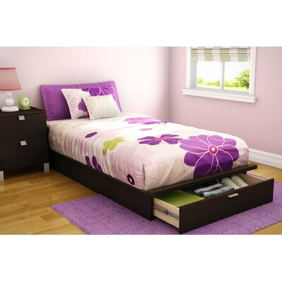 Cheap Twin 39″ Platform Bed with Drawer in Chocolate (TH2367)