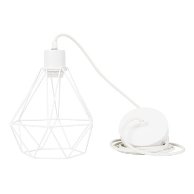 1-Light Mini Pendant Finish: White