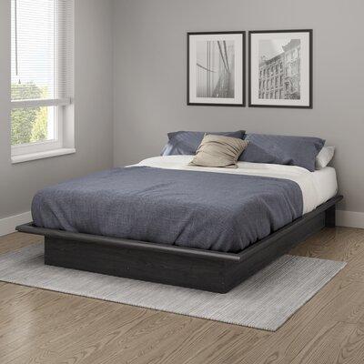 Step One Platform Bed Color: Gray Oak, Size: Full