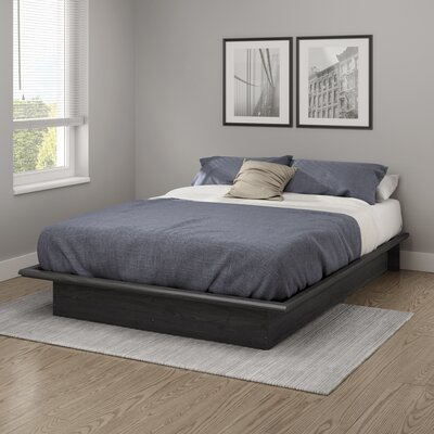 Step One Platform Bed Color: Gray Oak, Size: Queen