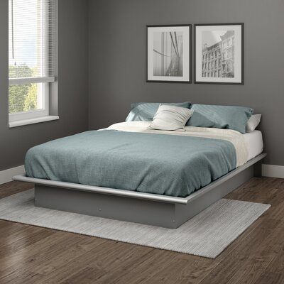 Step One Platform Bed Color: Soft Gray, Size: Queen