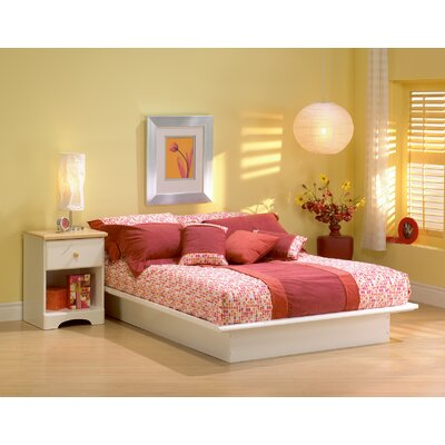 Step One Platform Bed Color: Pure White, Size: Queen