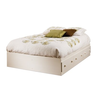 Summer Breeze Mates Bed with Storage Size: Full, Finish: White Wash