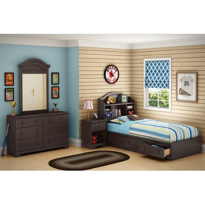 Summer Breeze Mates Bed with Storage Size: Twin, Finish: Chocolate