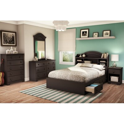 Summer Breeze Mates Bed with Storage Size: Full, Finish: Chocolate
