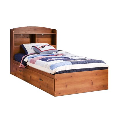 Logik Twin Mates Bed with Drawers Color: Sunny Pine