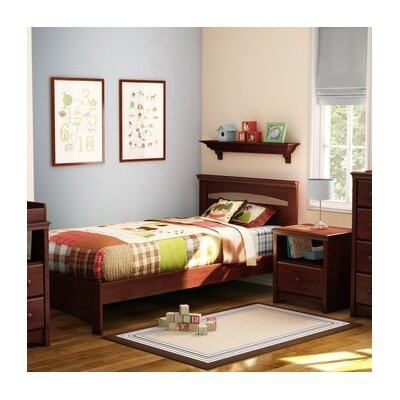 Libra Twin Panel Bed Color: Royal Cherry