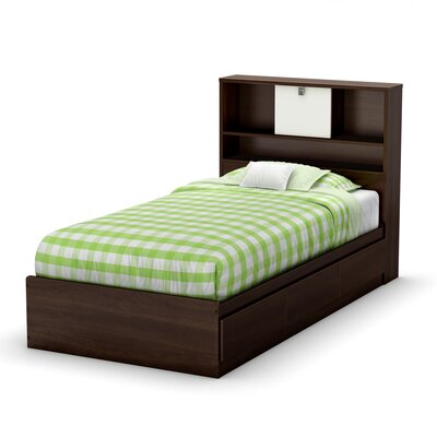 No credit financing Cookie Twin Storage Bed Finish: Moc...