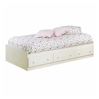 Summer Breeze Mates Bed with Storage Size: Twin, Finish: White Wash