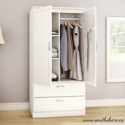 Acapella Wardrobe Armoire Finish White