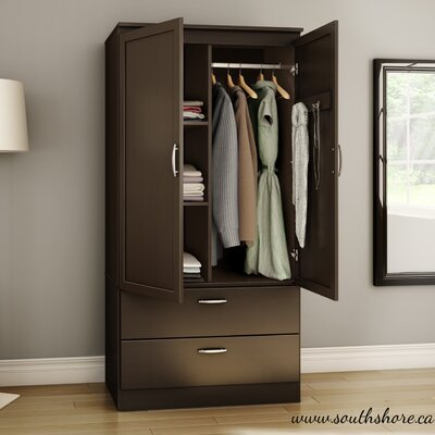 Acapella Wardrobe Armoire Finish Chocolate