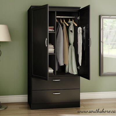 Acapella Wardrobe Armoire Finish Black