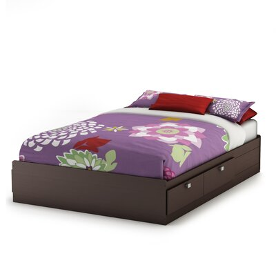 Karma Mates Bed with Storage Size: Full, Color: Chocolate