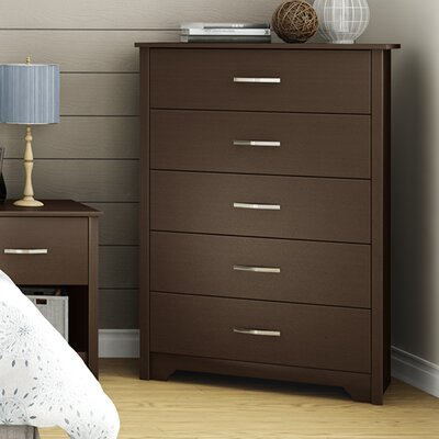 Fusion 5 Drawer Chest Color: Chocolate