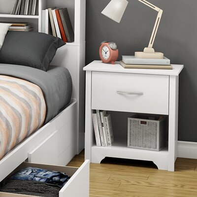 Fusion 1 Drawer Nightstand Color: Pure White