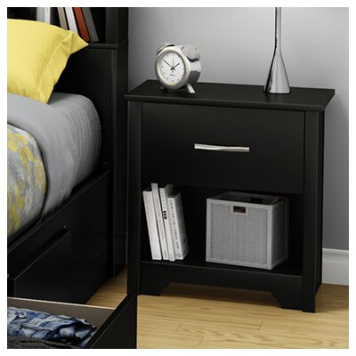 Fusion 1 Drawer Nightstand Color: Pure Black