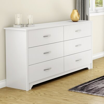 Fusion 6 Drawer Dresser Finish: Pure White