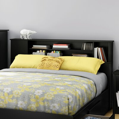 Fusion Bookcase Headboard Finish: Pure Black