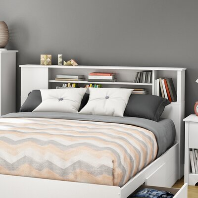 Fusion Bookcase Headboard Finish: Pure White