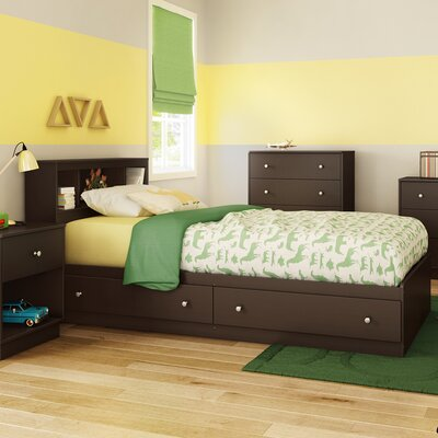 Litchi Twin Mates Bed with Storage