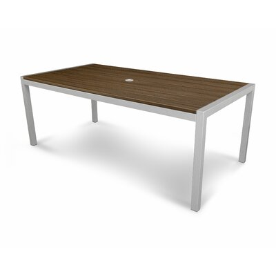 Parsons Dining Table Finish: Satin Silver / Spiced Rum