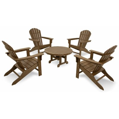 Trex Outdoor Cape Cod 5 Piece Adirondack Conversation Group Color: Tree House
