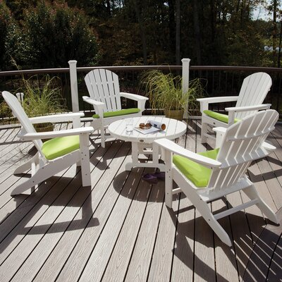 Trex Outdoor Cape Cod 5 Piece Adirondack Conversation Group Color: Classic White