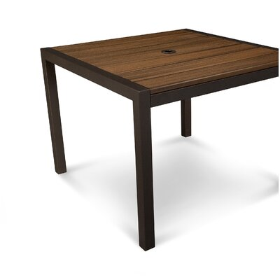 Parsons Dining Table Finish: Satin Bronze / Spiced Rum
