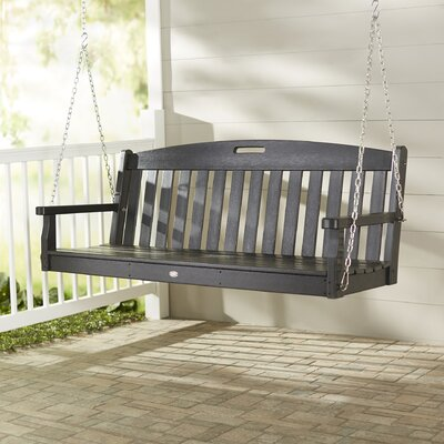 Yacht Club Porch Swing Color: Charcoal Black