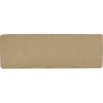Seat Cushion Fabric: Sesame, Size: 55.5